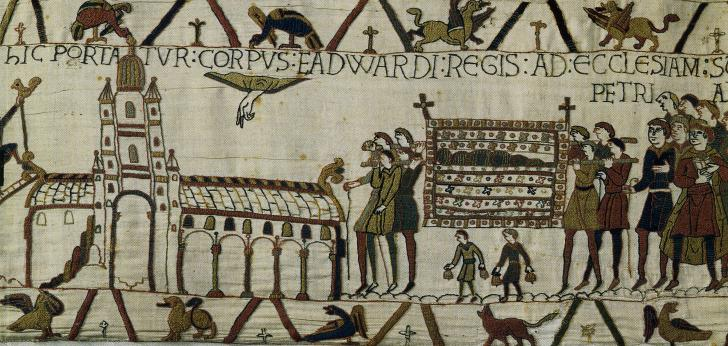 Bayeux Tapestry, 1070-1080, depicts contemporary events!