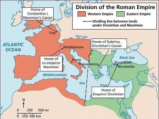 The Western Roman Empire continued to grow weak Text Emperor Constantine moved the Roman capital