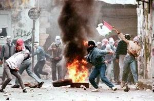 Intifada Arab frustrations over failure to achieve their own state and: