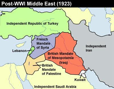 Colonialism The Ottoman Empire governed the region from 1299-1922 During WWI, the British government promised
