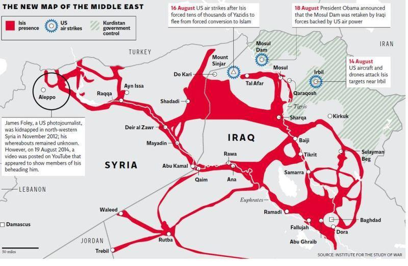 Where Control areas in both Syria