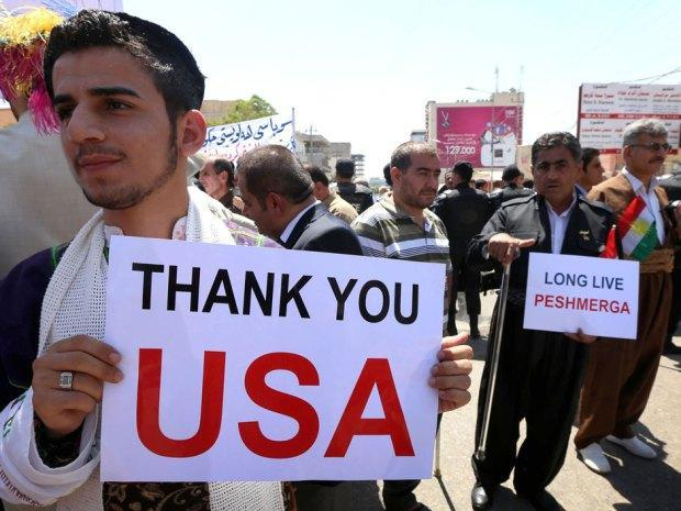 The Kurds are a US ally and the US has sent them arms to fight against ISIS.