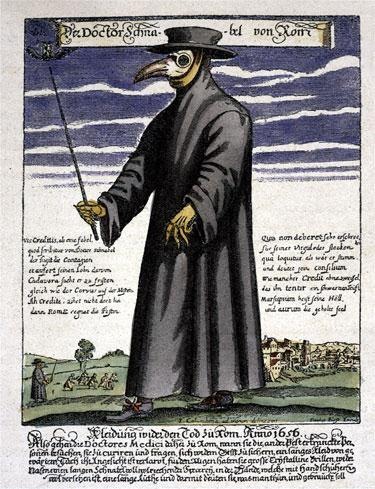 The Black Plague wiped out 1/3 of the population from 1347-1350.