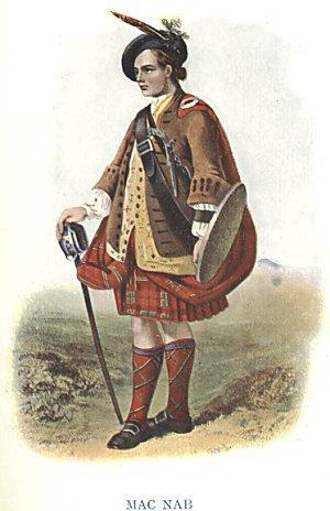 A Gentleman of the Clan MacNab From The Costumes of the Clans of Scotland by Robert Ronald McIan Between 1845 and 1847, Robert Ronald McIan painted and published a series of illustrations, under the