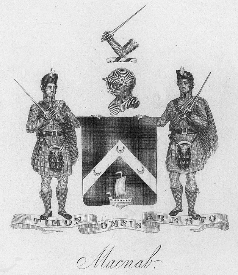 THE LAST LAIRD OF MACNAB The image above comes from the front s piece of The Last Laird of Macnab, subtitled An Episode in the Settlement of Macnab Township, Upper Canada by Alexander Fraser of