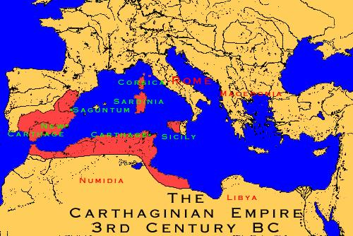 Rome Against Carthage Carthage = wealthiest city in Mediterranean area -->
