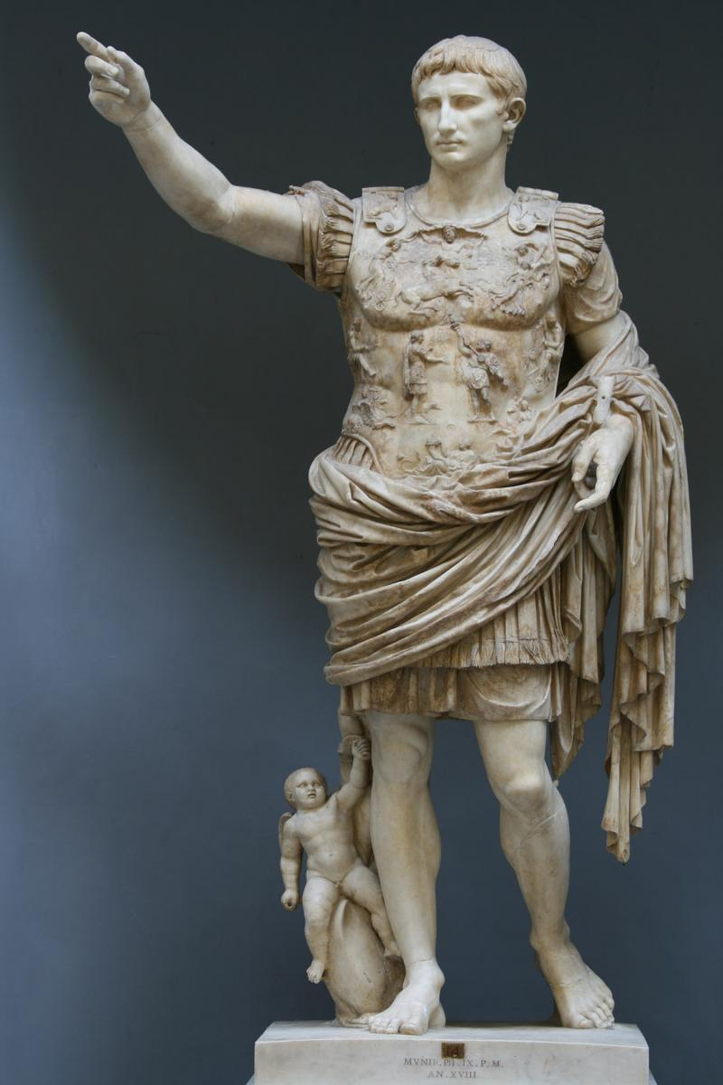 Octavian Octavian = gave himself title Augustus = majestic one Became Rome s first emperor = absolute ruler Rebuilt Rome