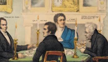 A Political Card Game Andrew Jackson plays a card game with his political enemies. Why did Jackson s opponents criticize the spoils system? C B D A Andrew Jackson Nicholas Biddle Henry Clay John C.