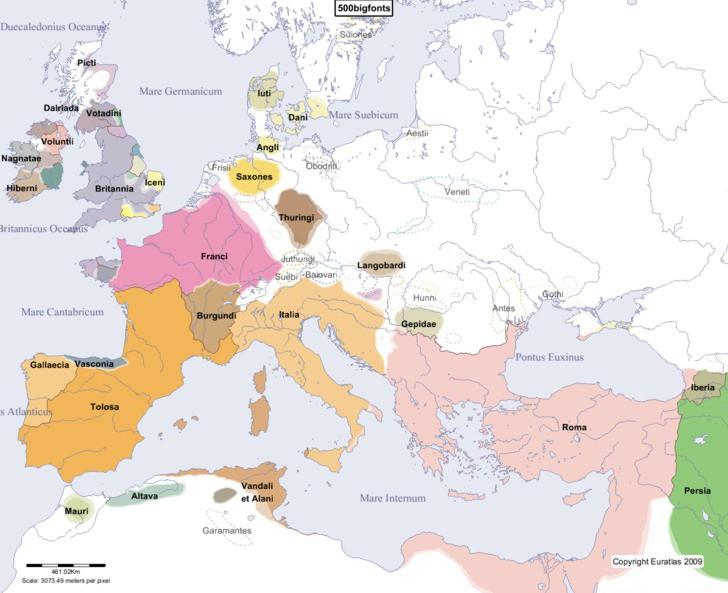 THE FRANKS AND THE CAROLINGIAN EMPIRE Franks Germanic peoples. North of Gaul.