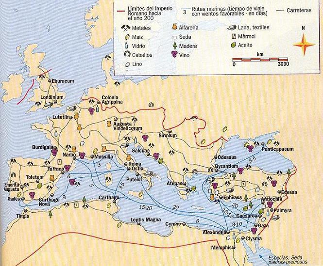 THE ROMAN EMPIRE Economy: Agriculture Specialised depending on the region.