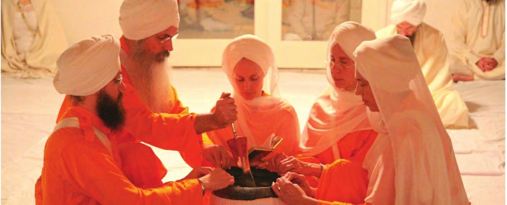 THE INITIATED COMMUNITY GURU KHALSA PANTH Each of the 10 Sikh gurus worked to nurture the Sikh community, and over time, the community underwent its own growth of responsibility.