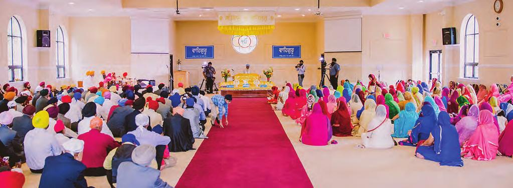 The primary form of worship in the gurdwara context is collectively singing musical compositions from the scriptural text.