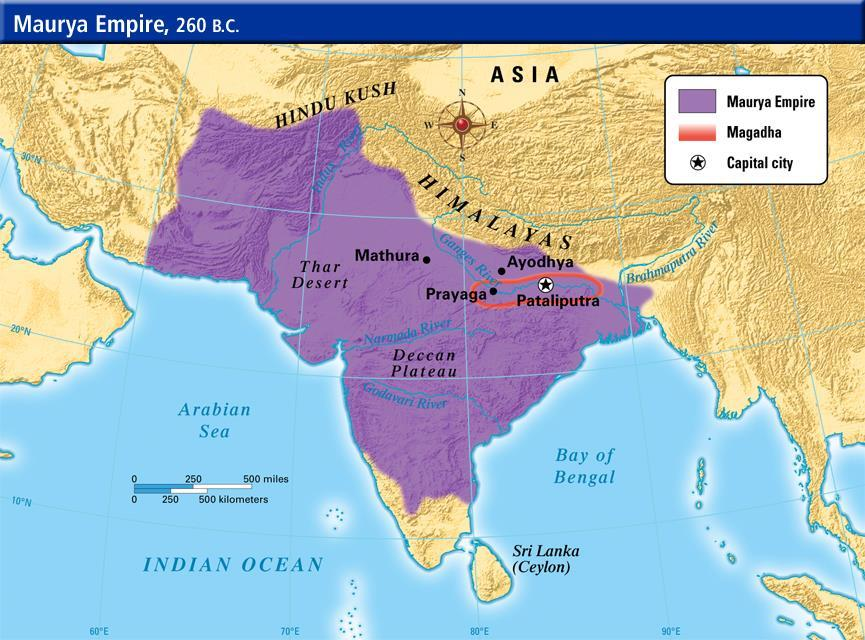 India s first centralized empire Chandragupta Maurya 4 th Century BCE Control of Magadha Kautilya Brahmin advisor to Chandragupta Arthashastra (treatise on government) My enemy s enemy is my friend