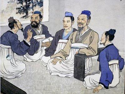 Confucianism taught that all men with a talent for government should take part in government.
