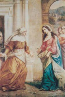 The Second Joyful Mystery THE VISITATION When Elizabeth heard Mary s greeting, the child leaped in her womb, and Elizabeth, filled with the Holy
