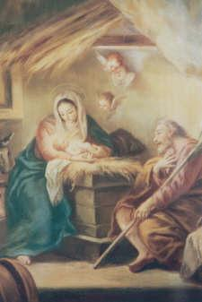 (Luke 1:39-45) Spiritual Fruit: Love of Neighbor The Third Joyful Mystery THE NATIVITY The time came for her to have a child, and she gave birth