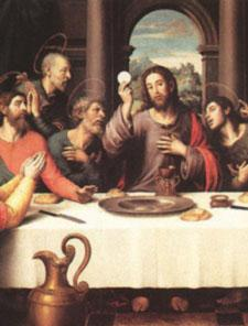(Matthew 17:1-8) Spiritual Fruit: Spiritual Courage The Fifth Luminous Mystery THE INSTITUTION OF THE EUCHARIST While they were eating, Jesus took bread, said