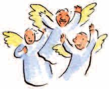 December 19 Angels On the night that Jesus was born, God sent an angel with a message for the shepherds.