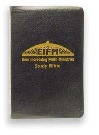 00) Half off $25 EIF Study Bible NEW KING JAMES VERSION, RED-LETTER EDITION, GIANT PRINT The custom designed Ever Increasing Faith Bible Cover.