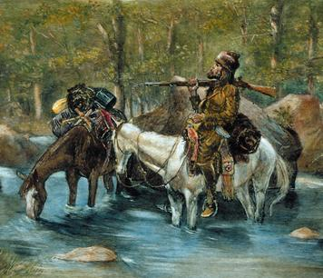 "Who Were the Mountain Men? The Lewis and Clark expedi4on s""mulated new interest in fur trade. The trappers, who were also called mountain men, lived hard and usually died young."