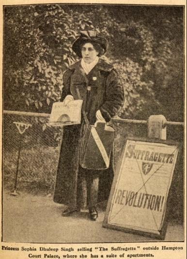 1909 - Princess Sophia joins the suffragettes To fight for women s right to vote.