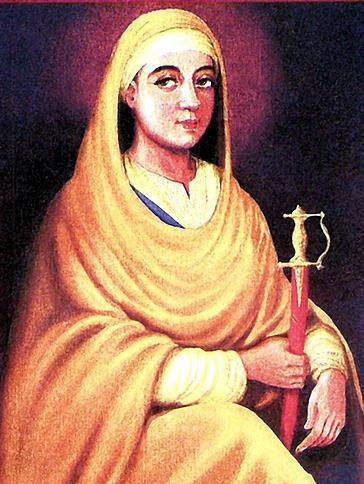 Mata Sundri Ji ਮ ਤ ਸ ਦਰ ਜ 1666-1708 The widow of Guru Gobind Singh Ji, Mata Sundri Ji helped