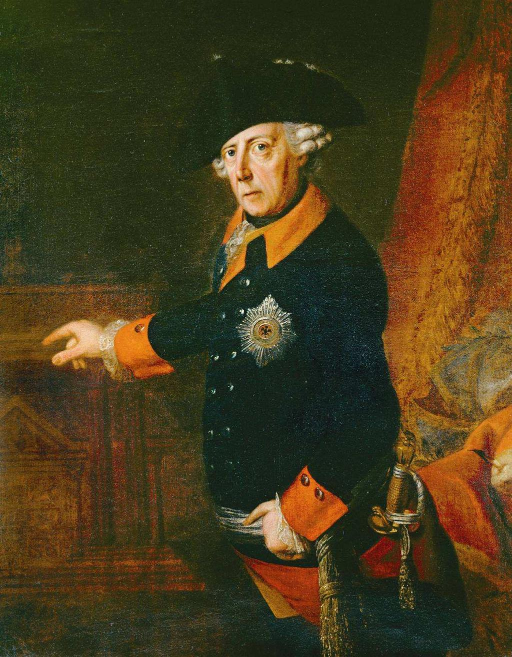 Frederick the Great of Prussia Promotion through merit work and education rather than birth would decide ruled Prussia Religious toleration for