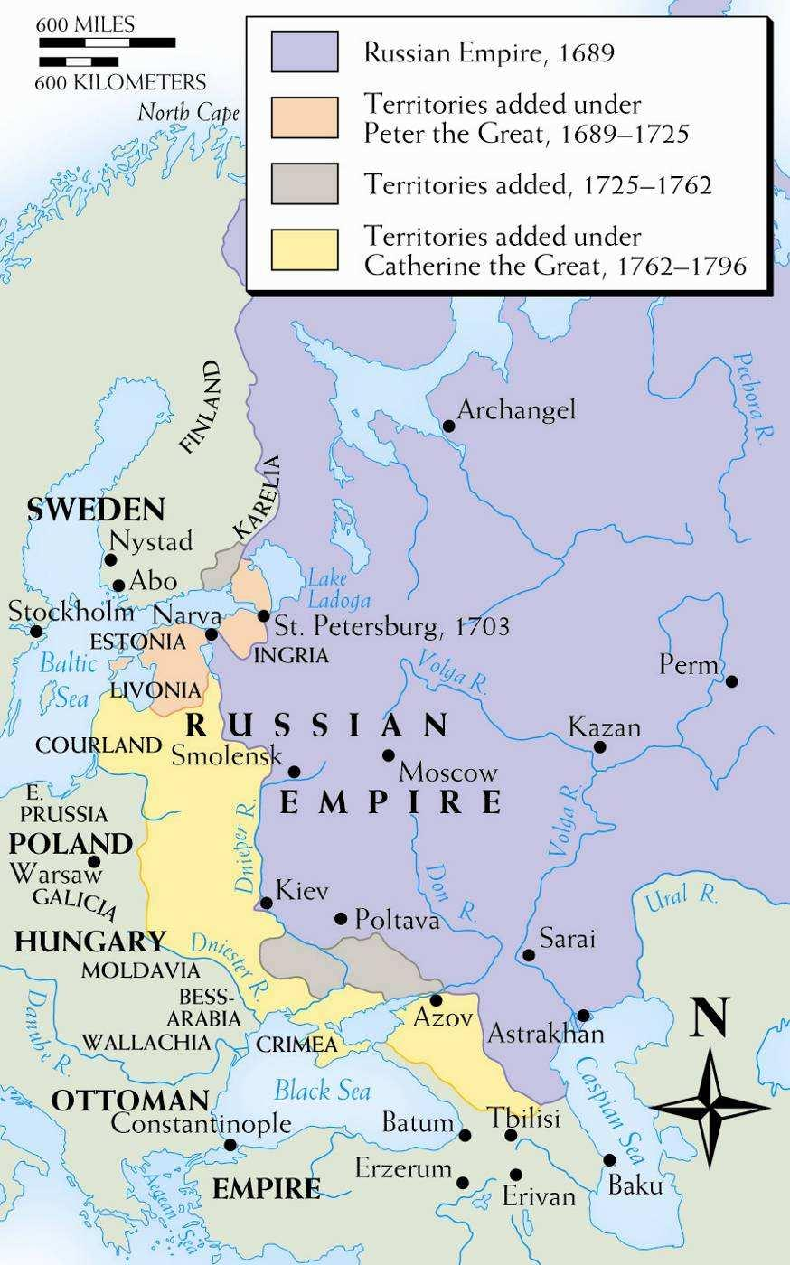 transportation and trade Abolished serfdom Land taxation Catherine the Great of Russia Limited administrative reform local control of the