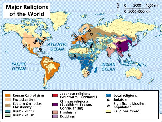 Place of Origin Islam: Middle East Judaism: Middle East Christianity: