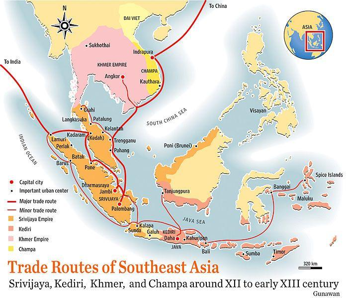 SE ASIA What does this map show us about