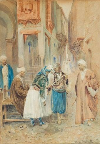 Maria Martinetti (Italian, 1864-1921) The Sword Master ماريا مارتينيتي )إيطالية - 1864 1921( صانع السيوف signed Maria Martinetti (lower right) pencil