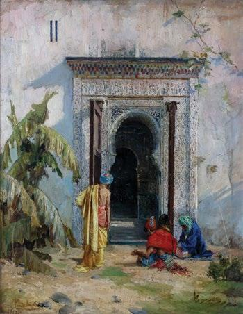 99. José de Cala y Moya (Spanish, 1850-1891) At the Palace Gate خوسيه دي كاال يا مويا )إسباني 1891-1850( signed and dated Cala de