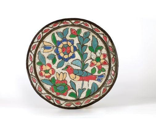 green, red, and white. Damascus, Syria, late 19th century Diameter 29.5 cm $ 900-1,200 QAR 3,285-4,380 123.