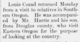 [Grant County News, July 18, 1889 p.
