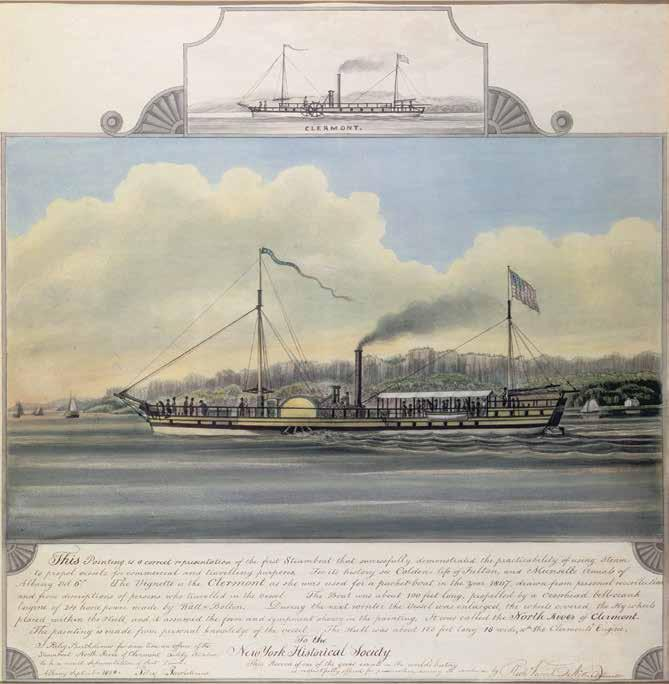 CHAPTER 4: Improvements in Transportation In 1807, Robert Fulton s steamboat, the Clermont, made the trip from New York City to Albany