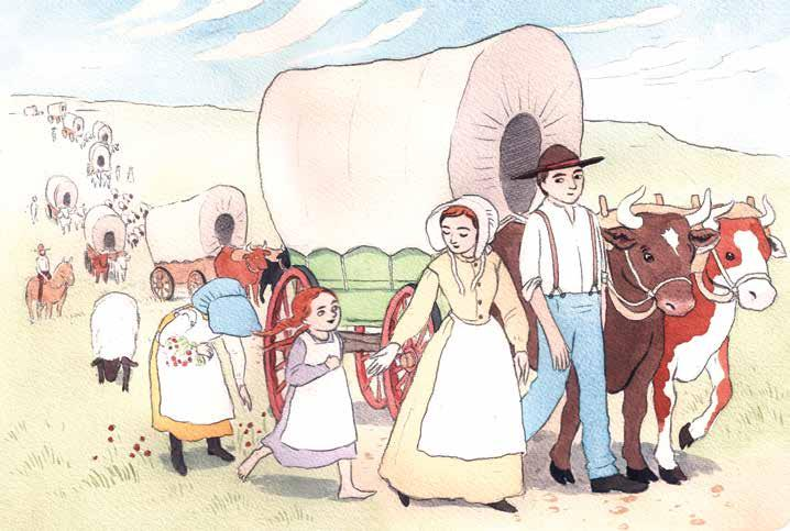 CHAPTER 8: Oregon During the 1840s 1850s, wagon trains on the Oregon Trail snaked their way across the landscape.