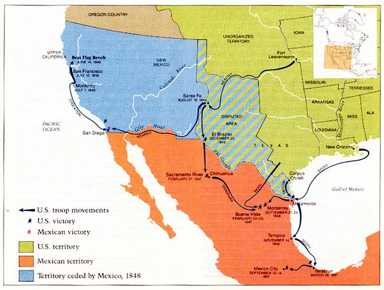 The U.S-Mexican War 1846-1848 36. Name the treaty that would settle war?