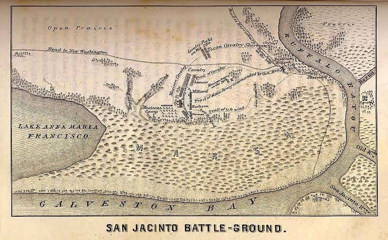 Battle of San Jacinto Santa Anna chased Texans under Sam Houston. Texans took stand at San Jacinto River near Galveston Bay.