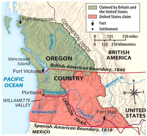 Election of 1844 James Polk: Promises to expand America Oregon Country - 54