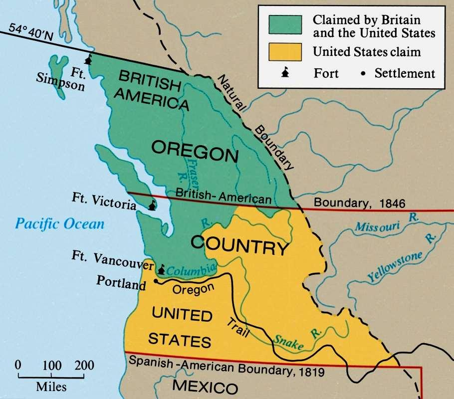 Oregon dispute Treaty with Great Britain in 1846 President Polk campaign slogan was