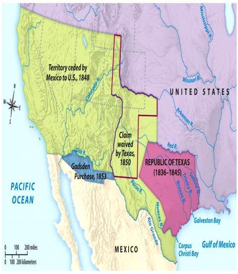 Treaty of Guadalupe-Hidalgo, 1848 Mexico gave up claims to
