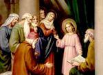 "When Elizabeth heard Mary s greeting, the infant leaped in her womb, and Elizabeth, filled with the Holy Spirit, cried out in a loud voice and said, ""Most blessed are you among women,"