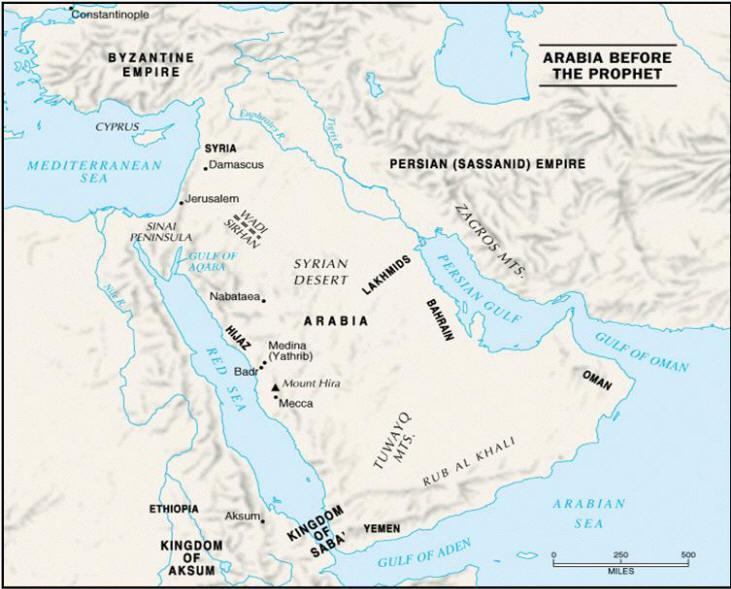 Arabia, the Birthplace of Islam The Arabian Peninsula is a desert region with little fertile soil or farming Most