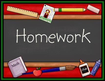 Homework Due date Completed signed by parent/guardian Task 1 Task 2 Task 3