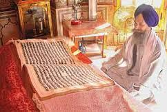 Treatment of the Guru Granth Sahib The Guru Granth Sahib is given the same respect that was shown to the human Gurus during their lifetimes.