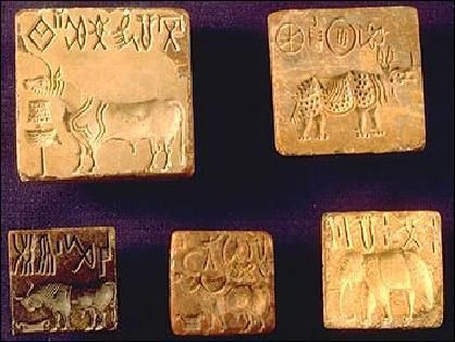 Picture of Harappan Seals Invasion of the Aryans Sometime after 2000 BCE Aryans move into area of northern India, language: Sanskrit Known as Vedic Period Culture c. 1000 BCE to c.
