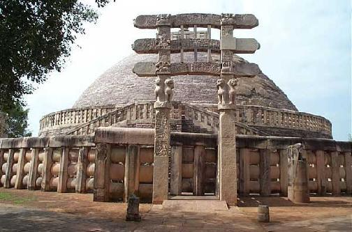 Stupa built during time of Ashoka- this one is located at Sanchi Rise of the Guptas Another