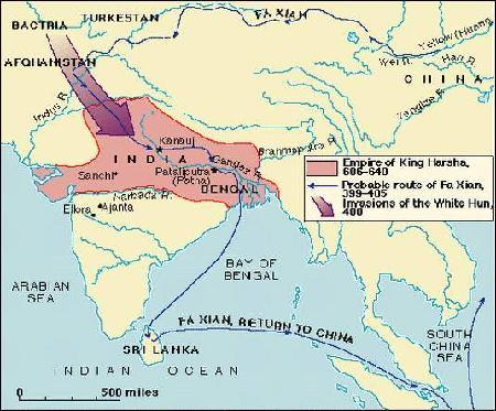Gupta Empire Considered a Golden Age Extensive trade with SE Asia including cotton (which was native to India) Little contact with China- WHY?
