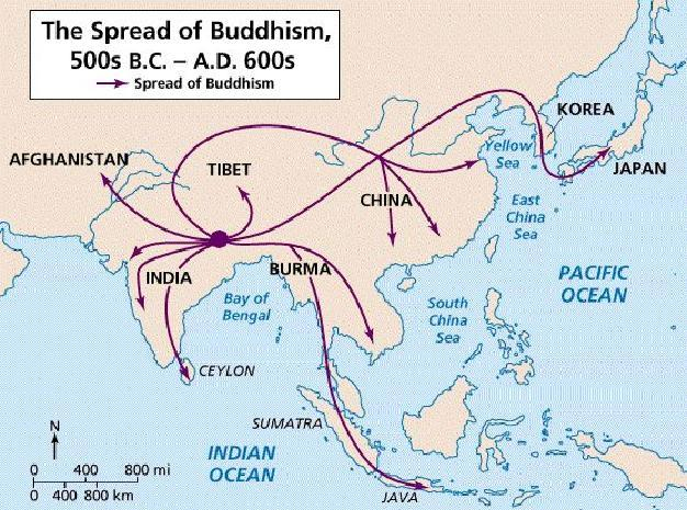 Spread of Buddhism How