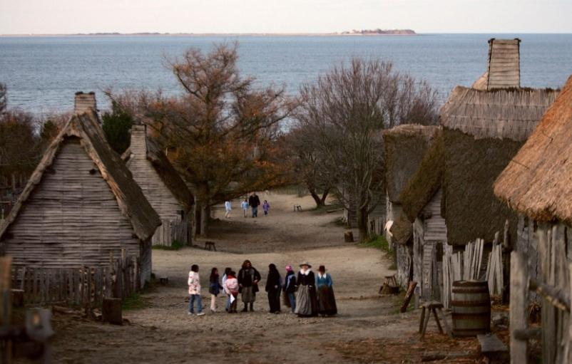 Of Plymouth Plantation Bradford wrote about the Pilgrims long journey, their settlement in Plymouth, and the horrors of smallpox visited upon the American Indians